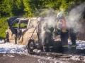 Brand-Polizeifahrzeug-