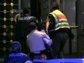 Polizei bei der Festnahme