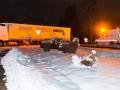 LKW-Blockade