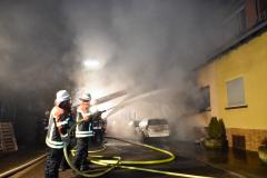 Löschangriff der Feuerwehr