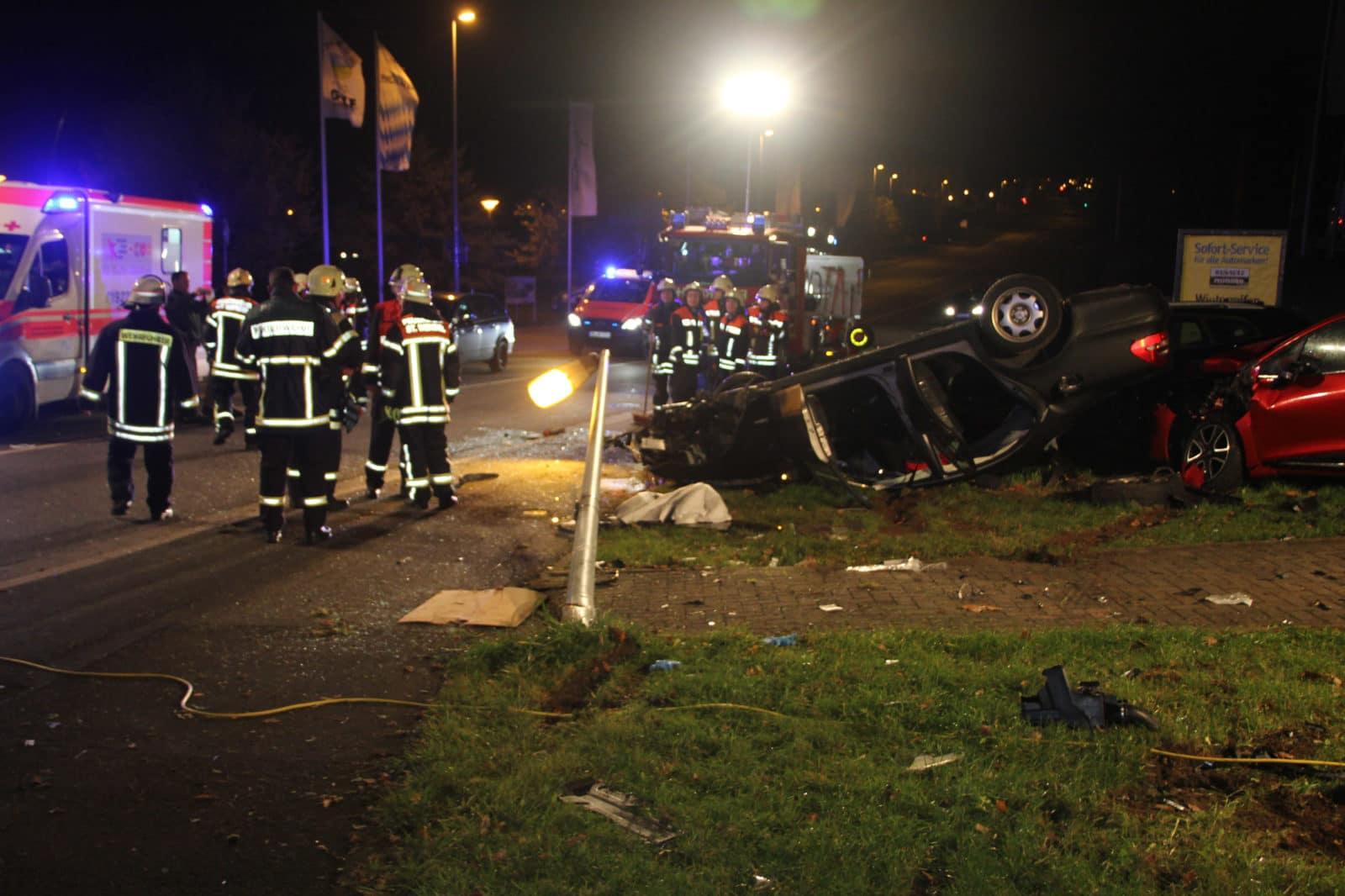 Verkehrsunfall St. Wendel Höhe Globus Tankstelle - Auto überschalgen