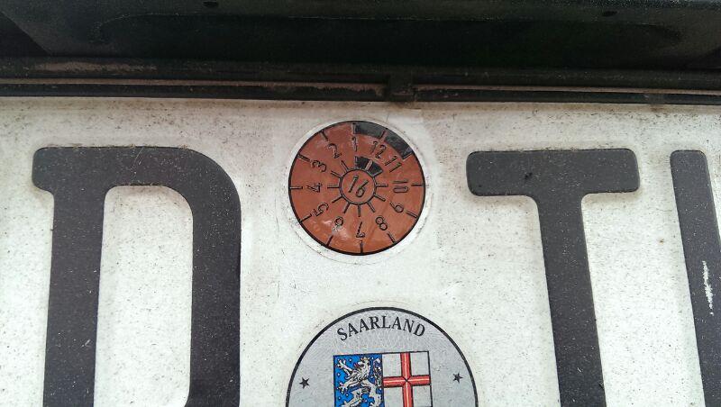 Kennzeichen symbolbild