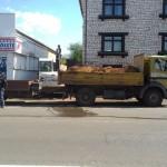 Gasleitung in Ensdorf von Bagger aufgerissen
