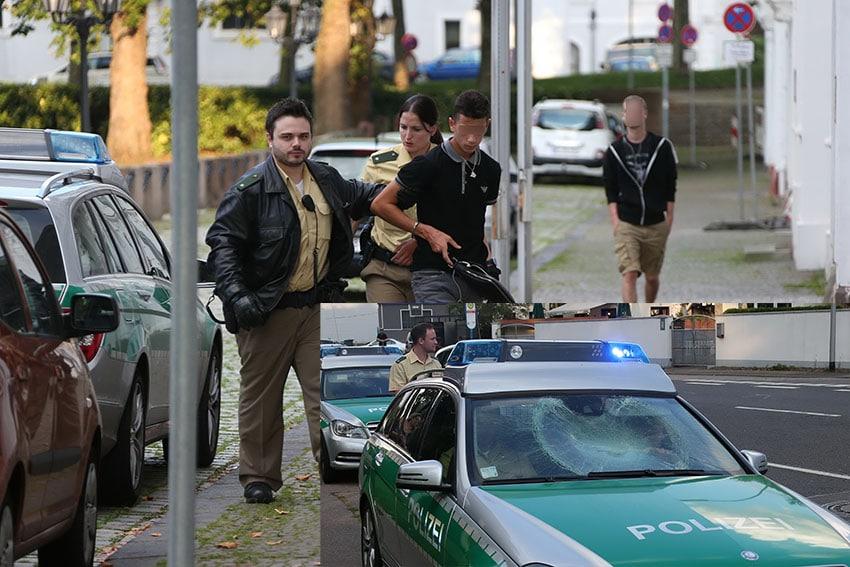 Schwere-Beschaedigung-eines-Polizeifahrzeugs
