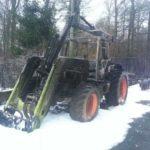 Brennender Traktor auf der L270
