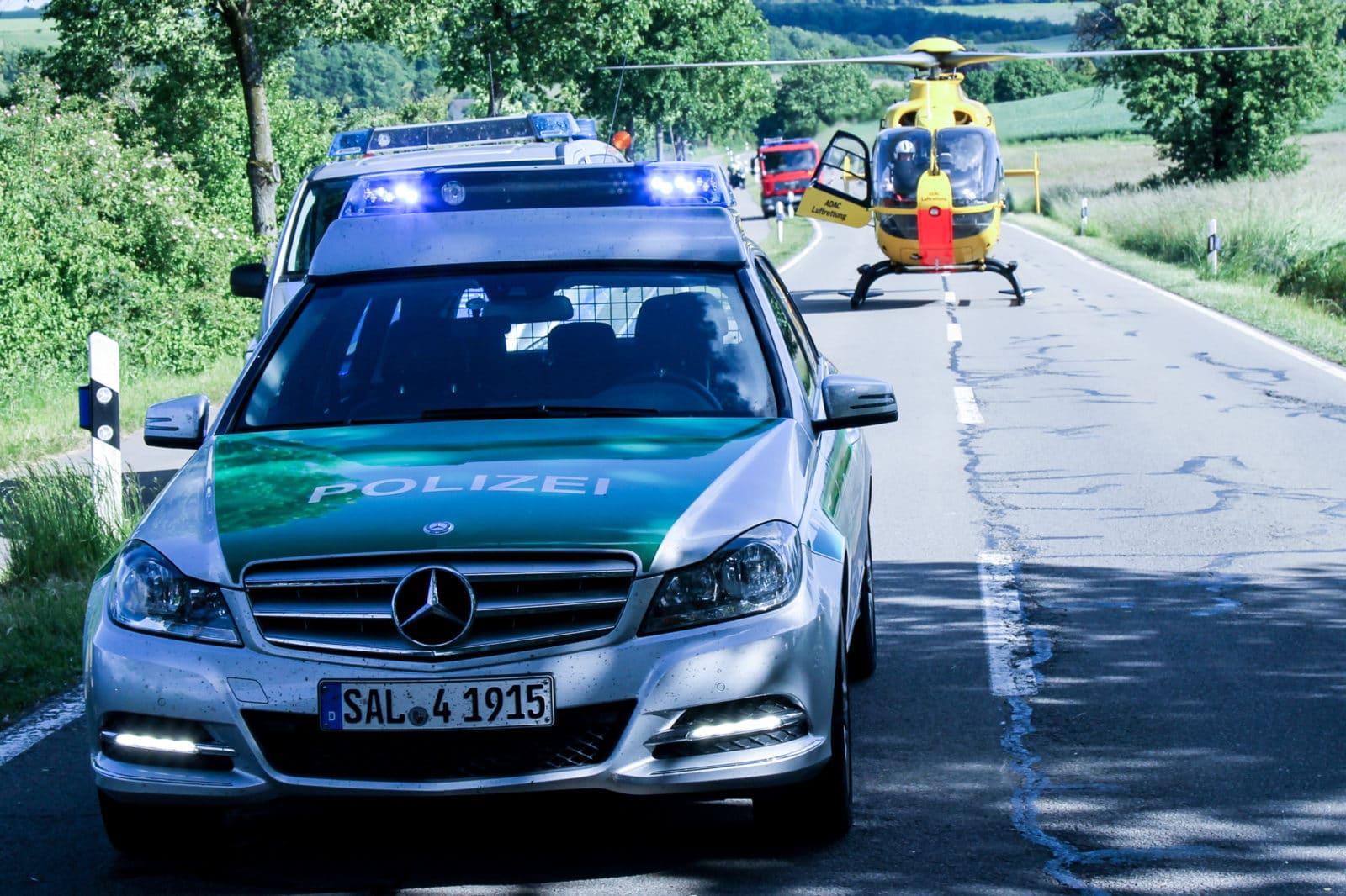 Symbolbild Polizei Hubschrauber