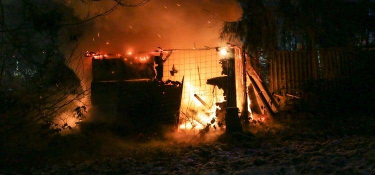 Gartenhausbrand Wiebelskirchen