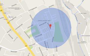 Kartenausschnitt GoogleMaps