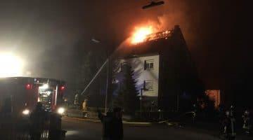 Brand der Unterkunft für Flüchtlinge in Wadagassen Hostenbach