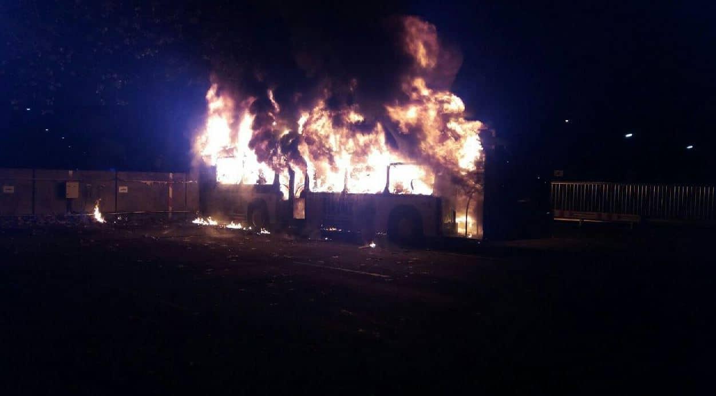 Abgebrannter Bus Im Busdepot Der Kvs Blaulichtreport