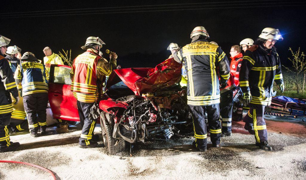 Drei Tote bei Autounfall in Beckingen