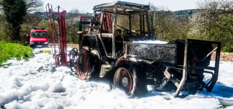 Traktor-Brand